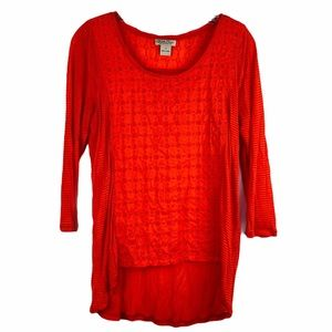 Lucky Brand Long Sleeve Top Size Small Orange